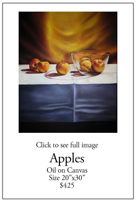 Apples - oil on Canvas