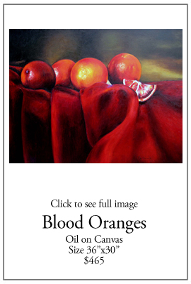 Blood Oranges - Oil on Canvas