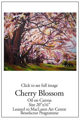 Cherry Blossom - Oil on Canvas