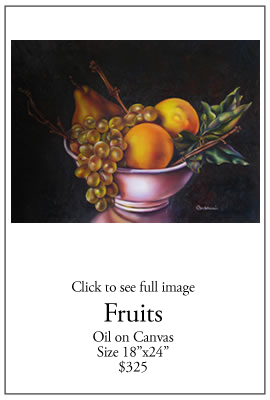 Fruits - Oil on Canvas
