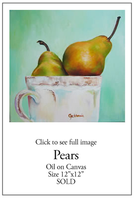 Pears - Oil on Canvas