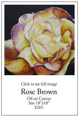 Rose Brown - Oil on Canvas