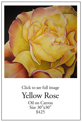 Yellow Rose - Oil on Canvas